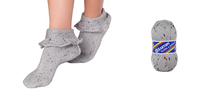 Fırfırlı Kış Çorabı