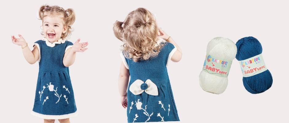 Lale Kız Çocuk Elbisesi