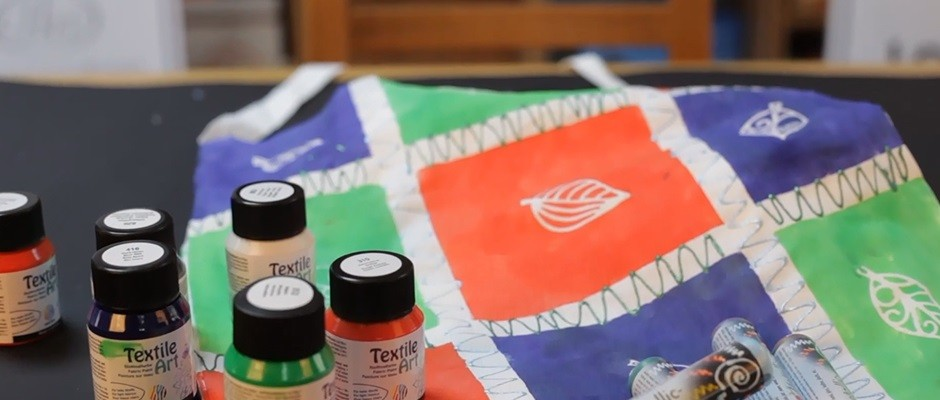 Nerchau Kumaş Boyası İle Çanta Tasarımı
