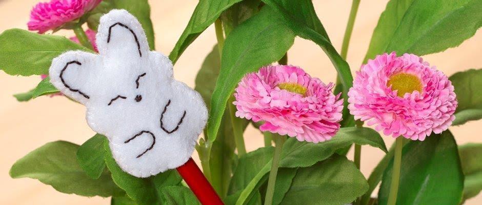 Keçe Tavşan Kalem Başlığı