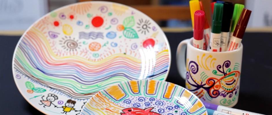 Porselen Kalemi ile Kupa Bardak Boyama
