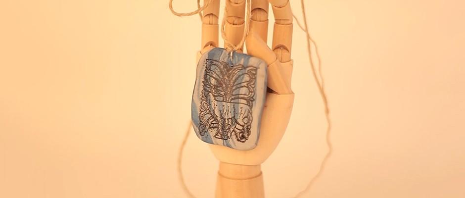 Sculpey Polimer Kil Üzerine Transfer Tekniği ile Kolye Yapımı