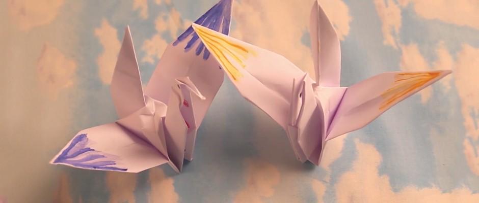Kağıt Katlama Sanatı Origami – Turna Kuşu Yapılışı