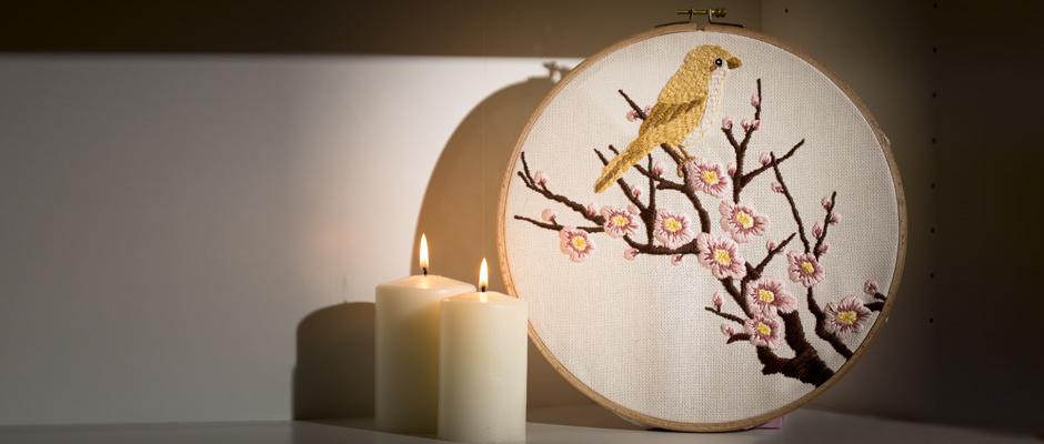 Ahşap Pano İşleme Sakura Çiçeği Yapımı