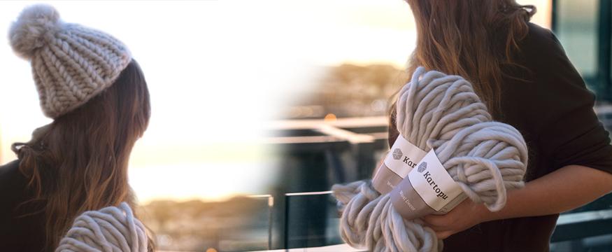 Kartopu Wool Decor İle Şık Bere Yapımı