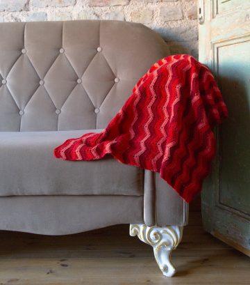Zigzag Örgü Battaniye Yapımı