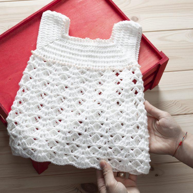 Boncuklu Bebek Elbisesi Yapımı