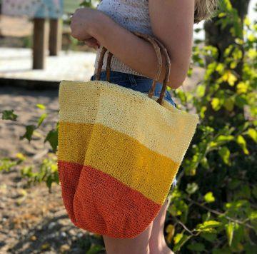 Kağıt İpten Renkli Çanta Yapımı