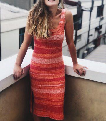 Ebruli Yazlık Elbise Yapımı