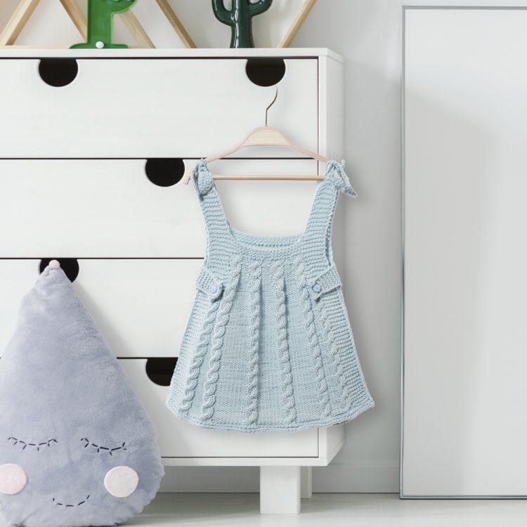 Saç Örgülü Bebek Elbisesi Yapımı