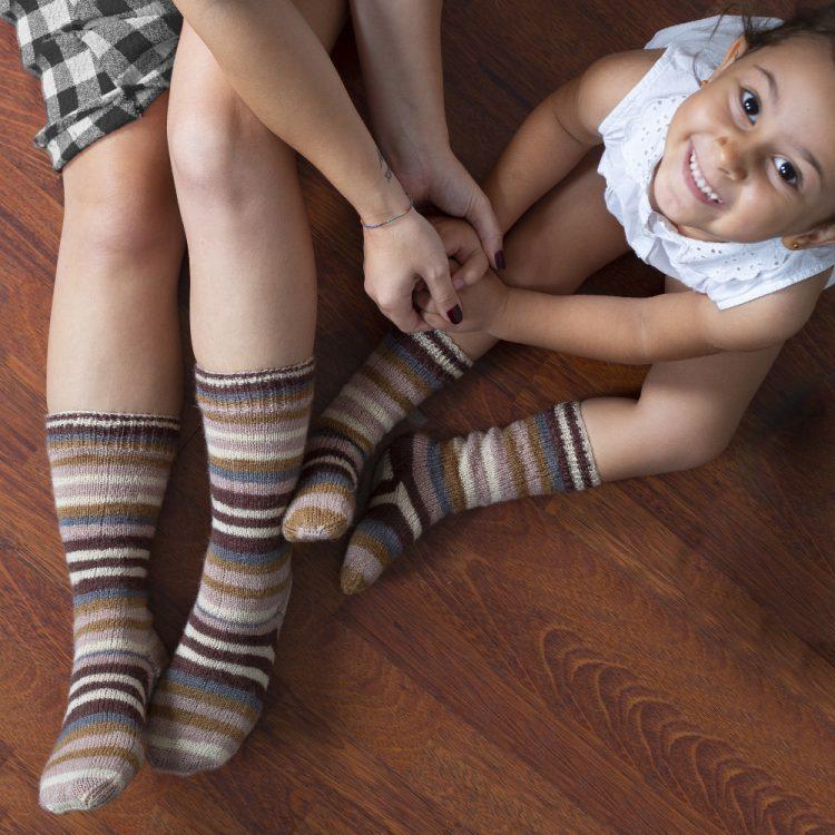 Anne-Çocuk Çorap Takımı Yapımı